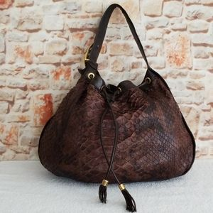 Gucci Python Interlocking Icon Shoulder Bag